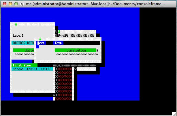ConsoleFramework-MacOs-xterm2